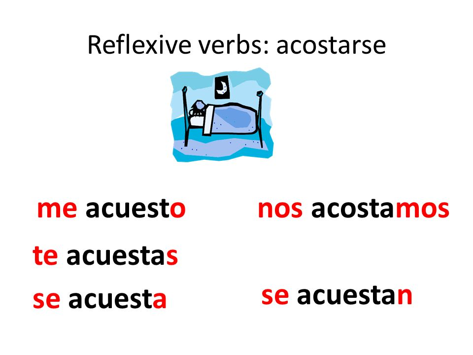 Reflexive verbs: acostarse
