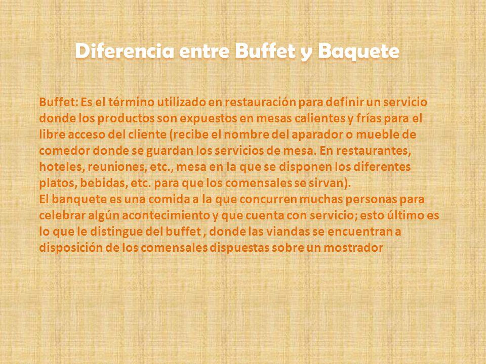 Diferencia entre Buffet y Baquete