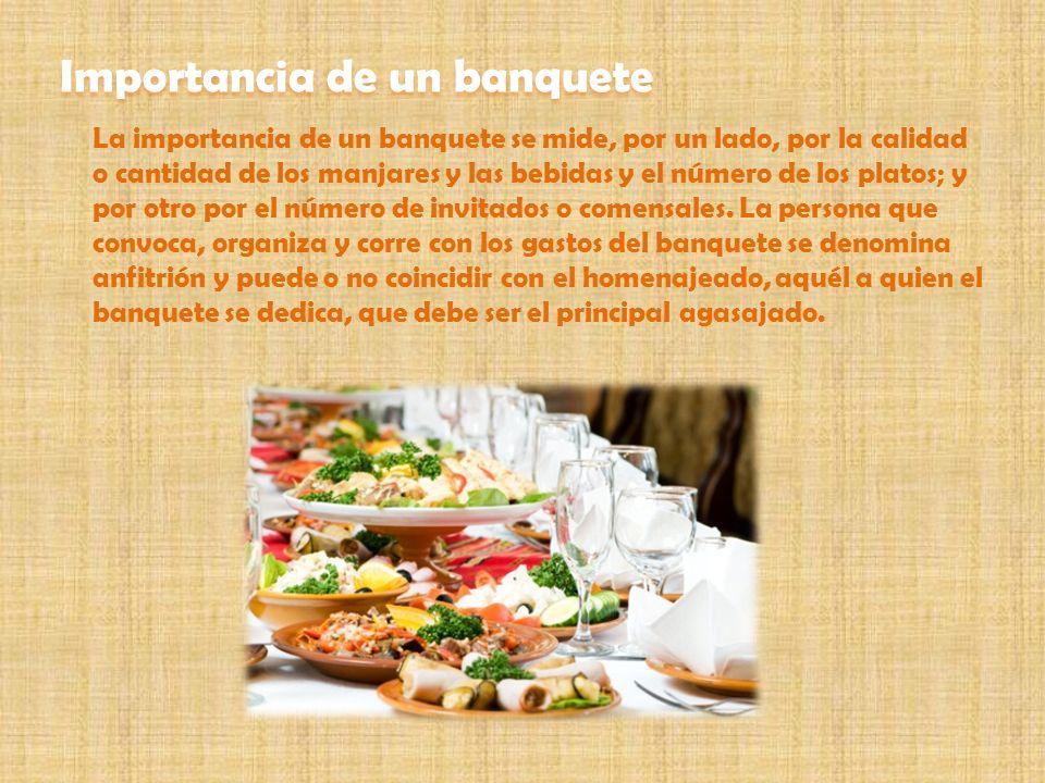 Importancia de un banquete