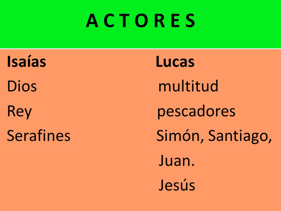 Serafines Simón, Santiago, Juan. Jesús