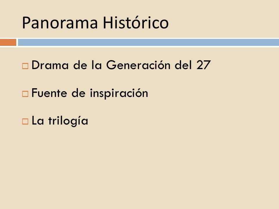 Panorama Histórico Drama de la Generación del 27 Fuente de inspiración