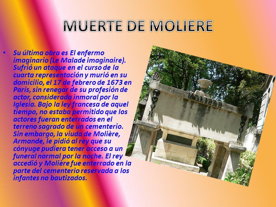 MUERTE DE MOLIERE