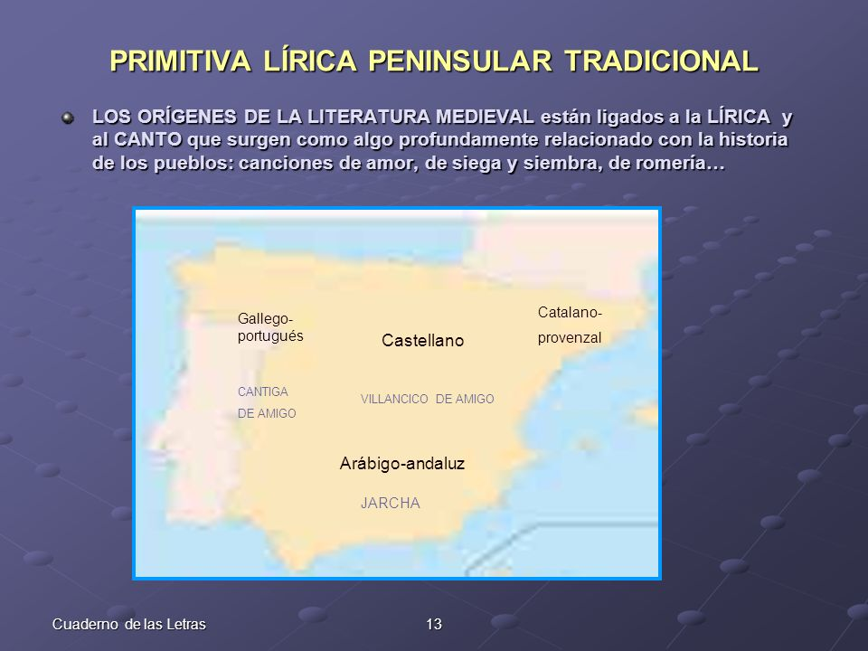 PRIMITIVA LÍRICA PENINSULAR TRADICIONAL