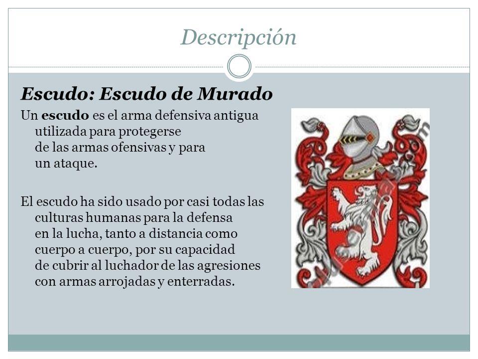 Descripción Escudo: Escudo de Murado