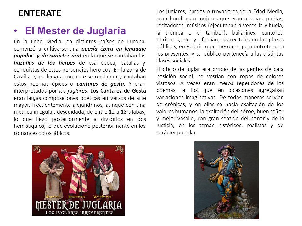 ENTERATE El Mester de Juglaría