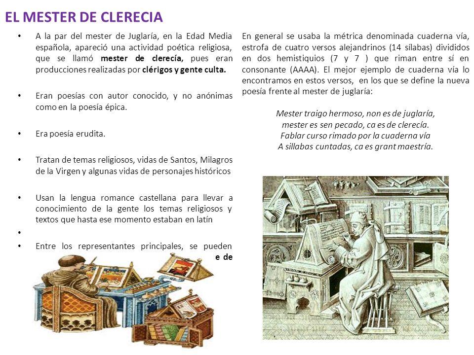 EL MESTER DE CLERECIA