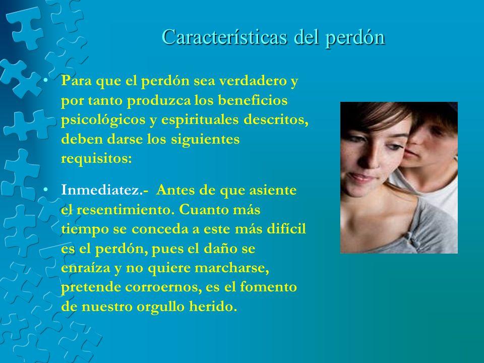 Características del perdón