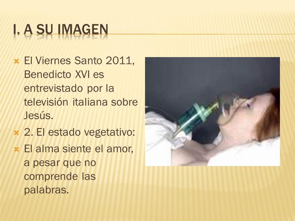 I. A su imagen El Viernes Santo 2011, Benedicto XVI es entrevistado por la televisión italiana sobre Jesús.