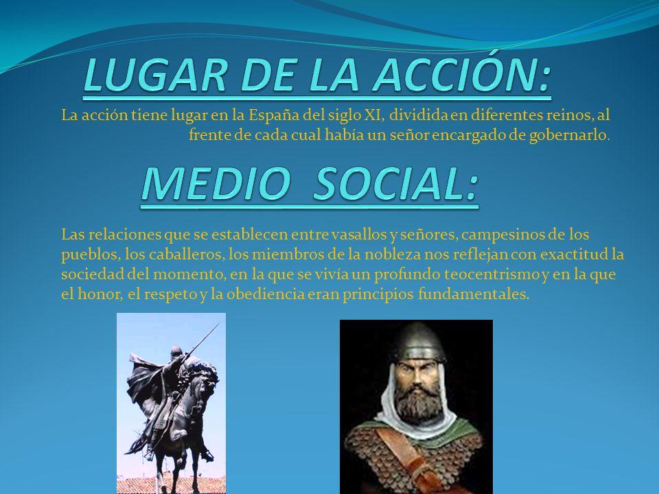 LUGAR DE LA ACCIÓN: MEDIO SOCIAL: