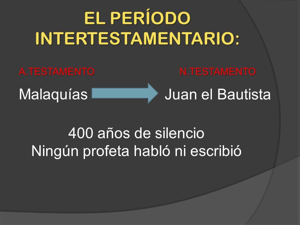 EL PERÍODO INTERTESTAMENTARIO: