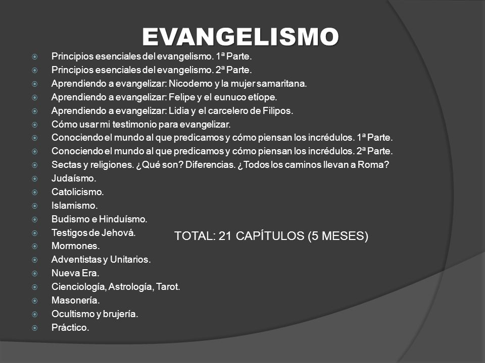 TOTAL: 21 CAPÍTULOS (5 MESES)
