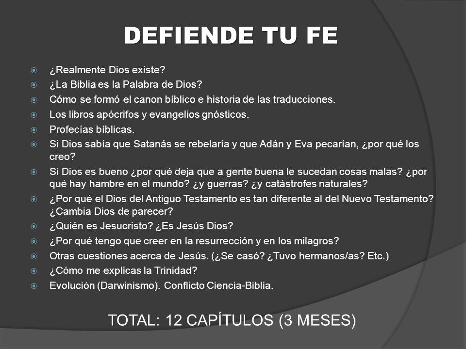 TOTAL: 12 CAPÍTULOS (3 MESES)