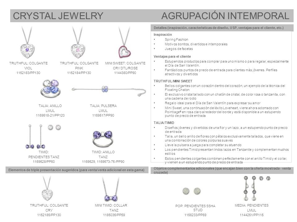 CRYSTAL JEWELRY AGRUPACIÓN INTEMPORAL