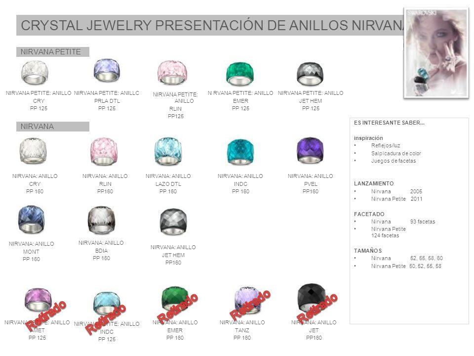 CRYSTAL JEWELRY PRESENTACIÓN DE ANILLOS NIRVANA