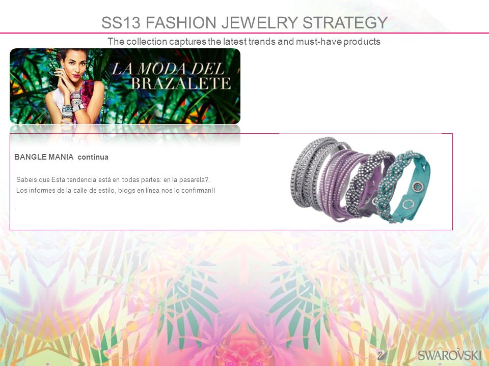 SS13 FASHION JEWELRY STRATEGY