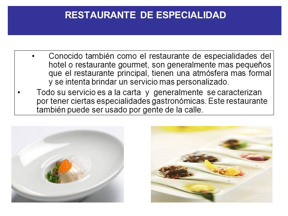RESTAURANTE DE ESPECIALIDAD