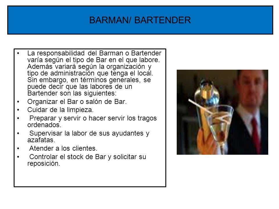 BARMAN/ BARTENDER
