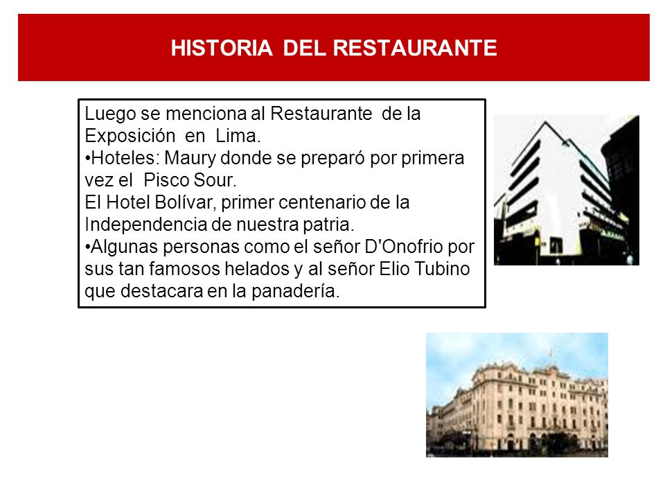 HISTORIA DEL RESTAURANTE