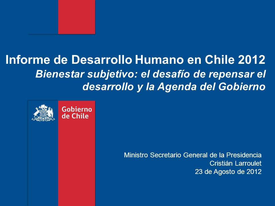Informe de Desarrollo Humano en Chile 2012