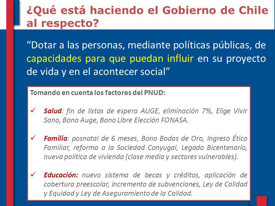 ¿Qué está haciendo el Gobierno de Chile al respecto