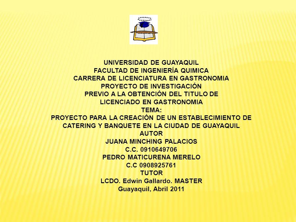 UNIVERSIDAD DE GUAYAQUIL FACULTAD DE INGENIERÍA QUIMICA