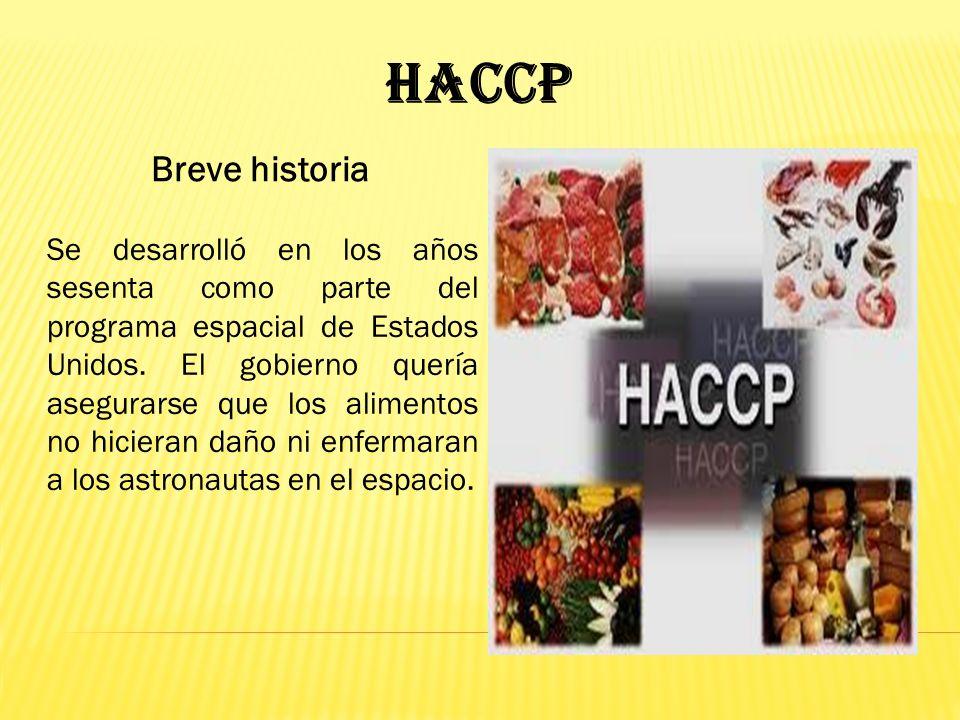 HACCP Breve historia.