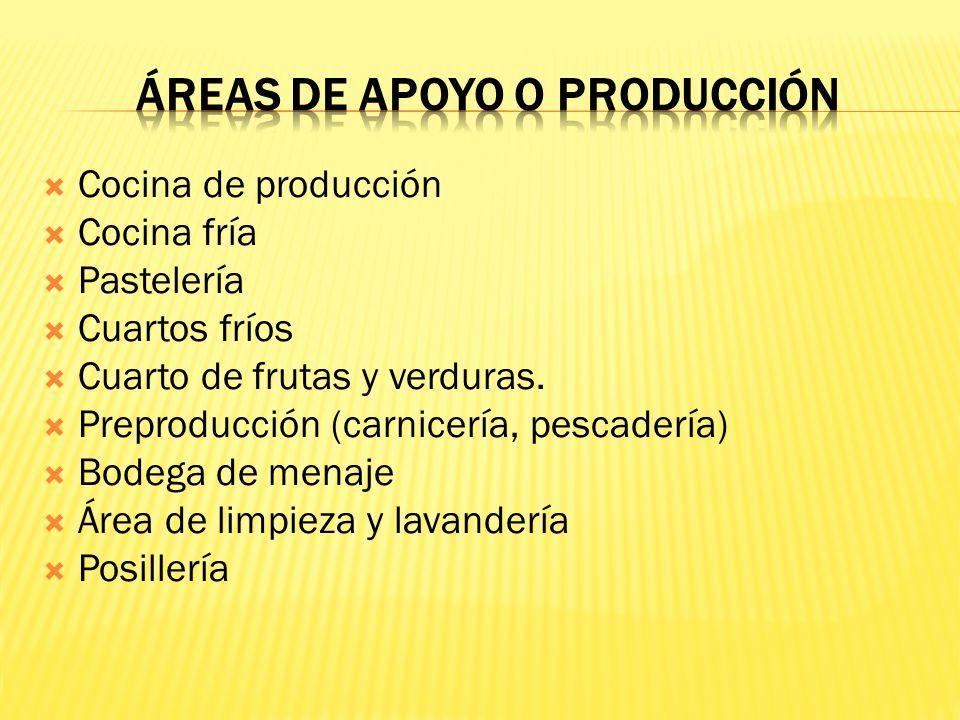 ÁREAS DE APOYO O PRODUCCIÓN