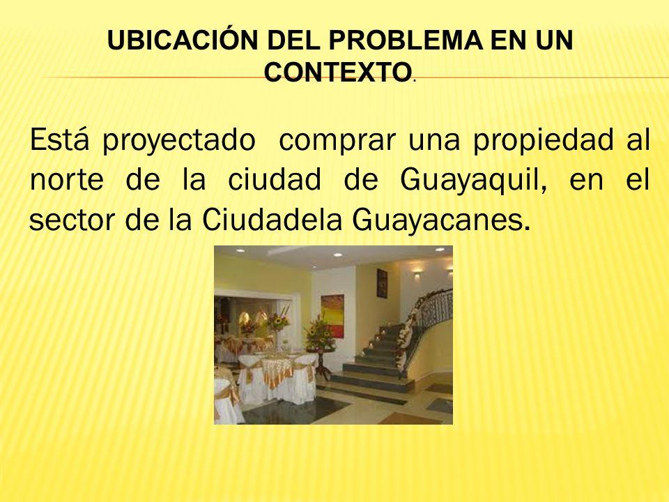 UBICACIÓN DEL PROBLEMA EN UN CONTEXTO.