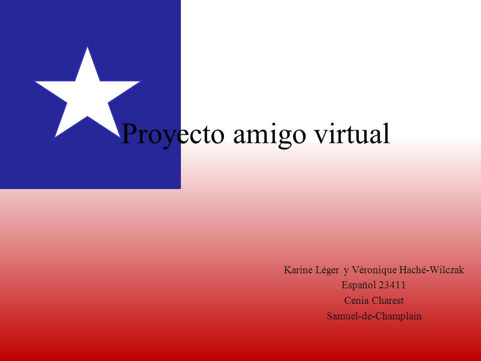 Proyecto amigo virtual