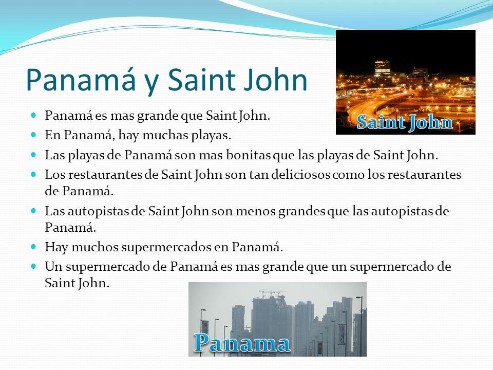 Panamá y Saint John Panama Saint John
