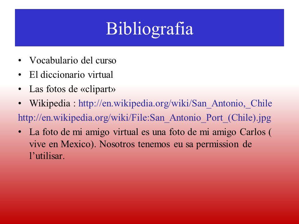 Bibliografia Vocabulario del curso El diccionario virtual