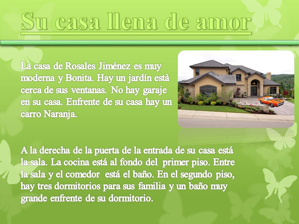 Su casa llena de amor