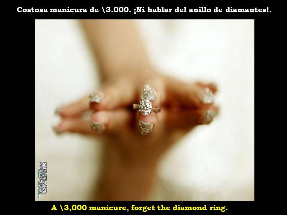 Costosa manicura de \3.000. ¡Ni hablar del anillo de diamantes!.