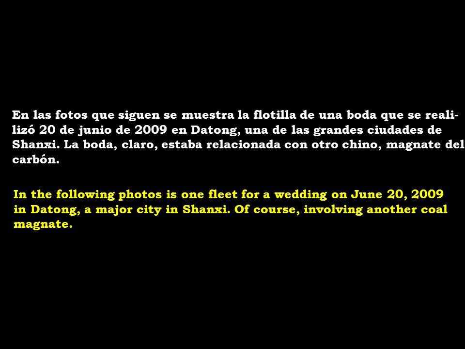 En las fotos que siguen se muestra la flotilla de una boda que se reali-