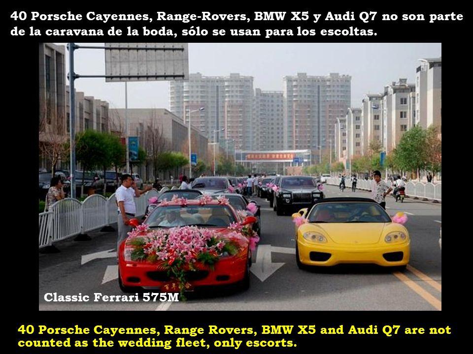 40 Porsche Cayennes, Range-Rovers, BMW X5 y Audi Q7 no son parte de la caravana de la boda, sólo se usan para los escoltas.