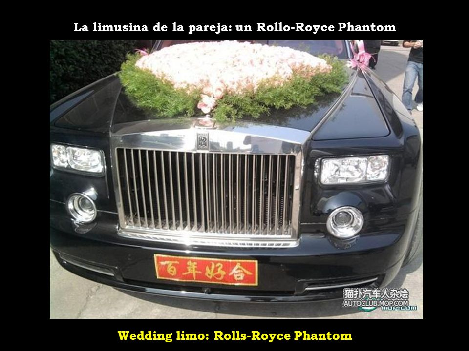 Wedding limo: Rolls-Royce Phantom