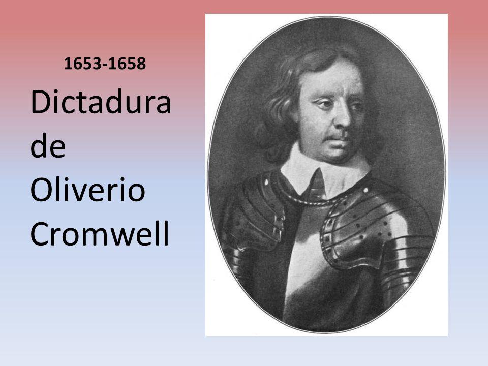 Dictadura de Oliverio Cromwell