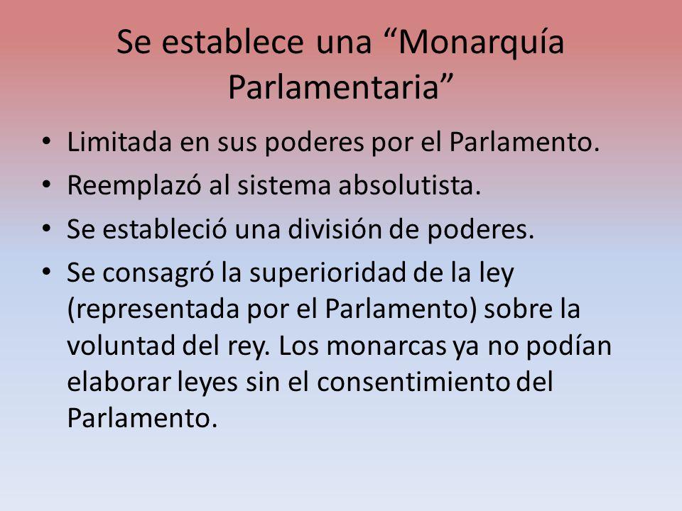 Se establece una Monarquía Parlamentaria