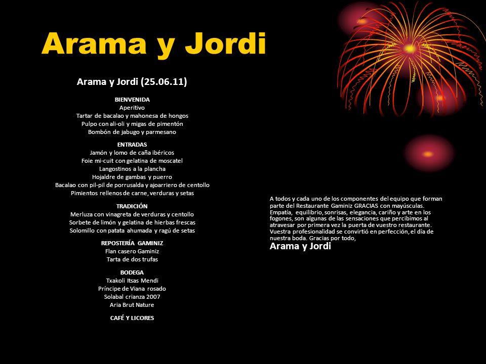 Arama y Jordi Arama y Jordi (25.06.11)