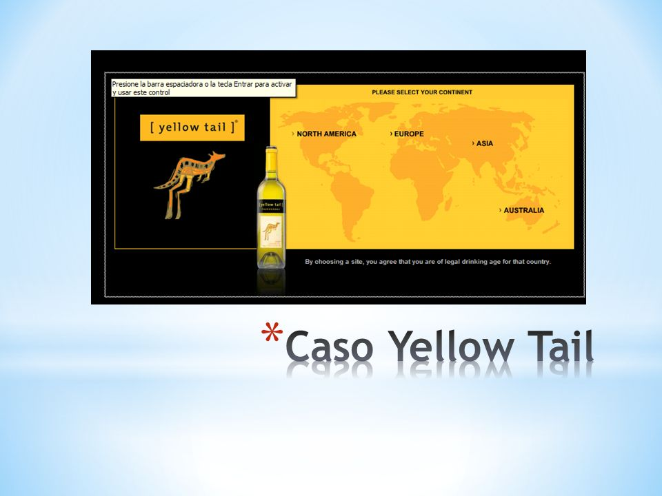 Caso Yellow Tail