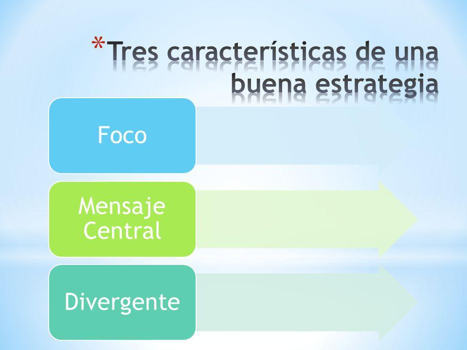 Tres características de una buena estrategia