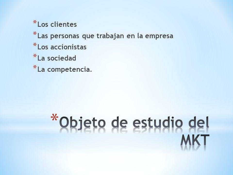 Objeto de estudio del MKT