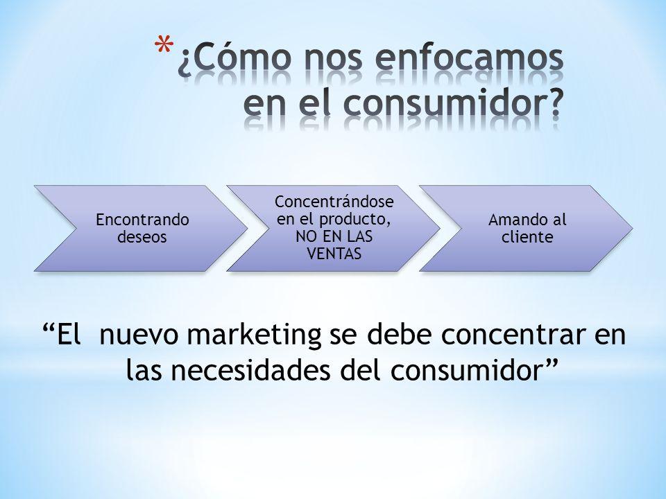 ¿Cómo nos enfocamos en el consumidor