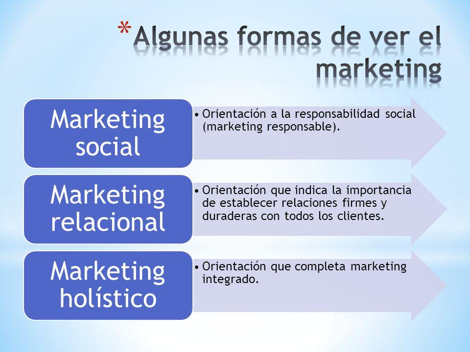 Algunas formas de ver el marketing
