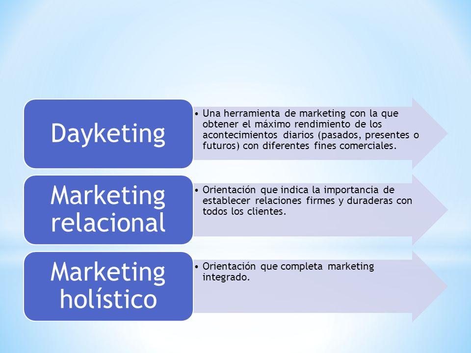 Dayketing Marketing relacional Marketing holístico