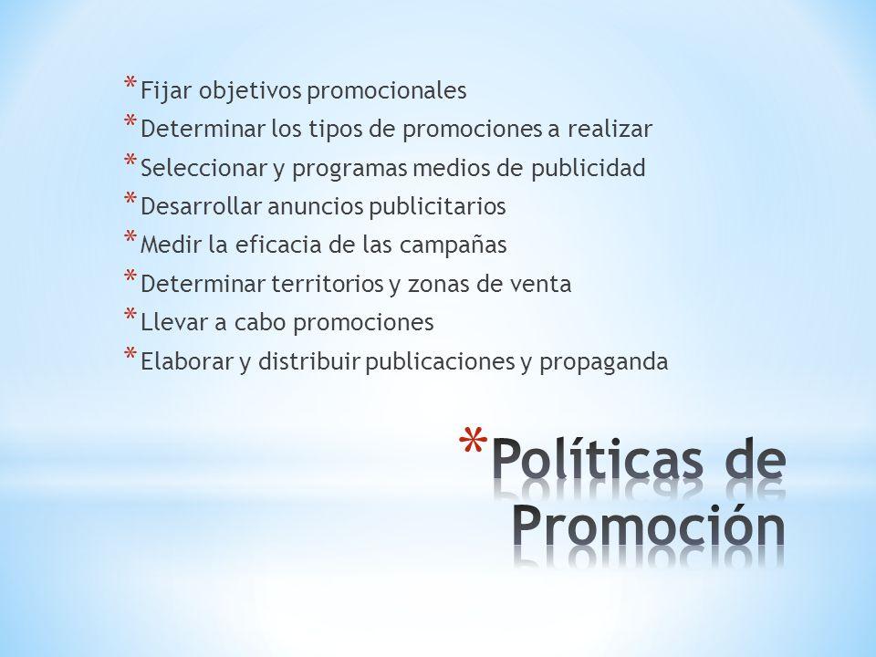 Políticas de Promoción