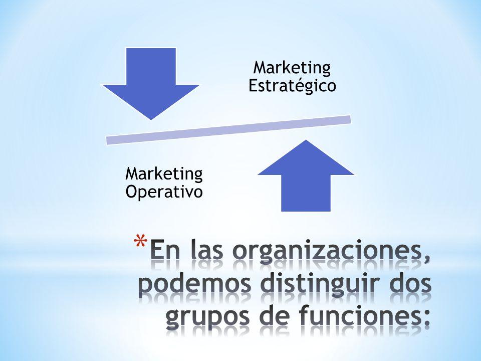 En las organizaciones, podemos distinguir dos grupos de funciones: