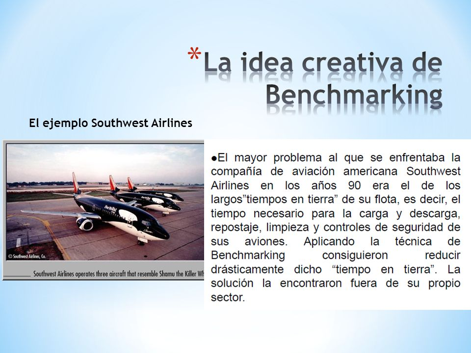 La idea creativa de Benchmarking