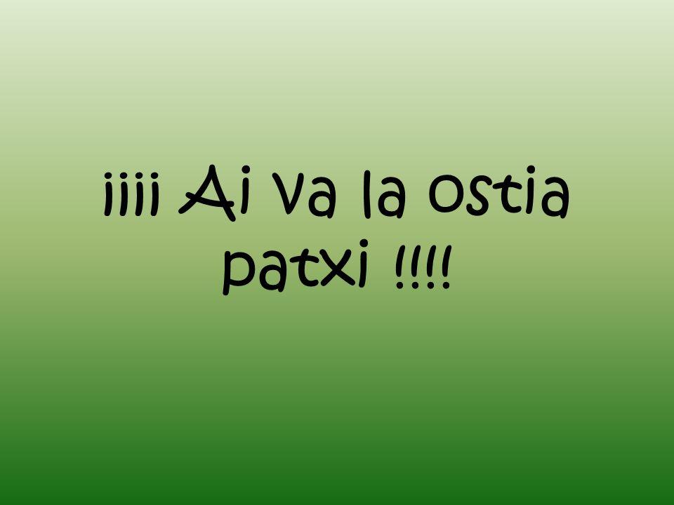 ¡¡¡¡ Ai va la ostia patxi !!!!