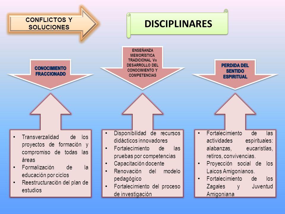 DISCIPLINARES CONFLICTOS Y SOLUCIONES